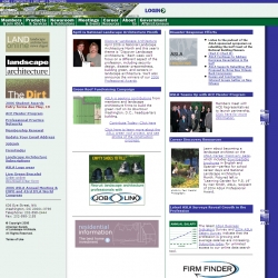 Official web site of the American Society of Landscape Architects