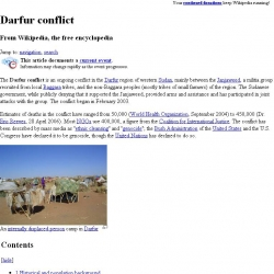 Darfur conflict : from Wikipedia, the free encyclopedia