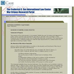 Frederick K. Cox International Law Center War Crimes Research Portal
