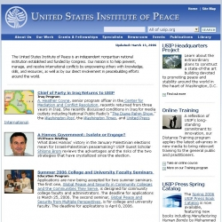 United States Institute of Peace : Committed to the Prevention, Management, and Peaceful Resolution of International Conflicts