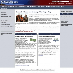 Oregon Information Related to the American Recovery and Reinvestment Act of 2009