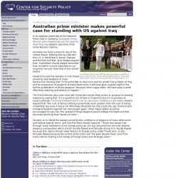 Center for Security Policy : Promoting Peace through Strength