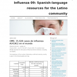 Influenza 09 : Spanish-language Resources for the Latino Community