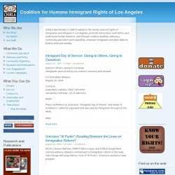 Coalition for Humane Immigrant Rights of Los Angeles : Educating, Organizing, Advocating!