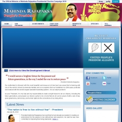 Mahinda Rajapaksa Presidential Election Campaign 2010 Official Site