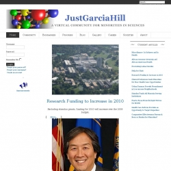 JustGarciaHill : A Virtual Community for Minorities in Sciences