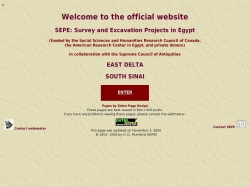 Survey and Excavation Projects in Egypt