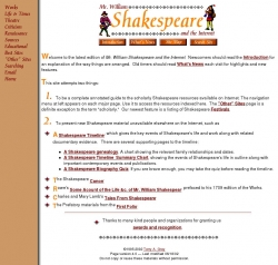 Mr. William Shakespeare and the Internet