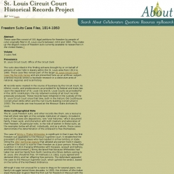 St. Louis Circuit Court Historical Records Project