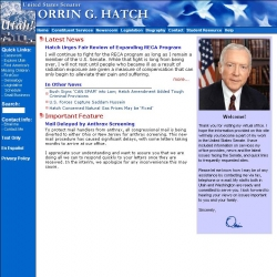 Member of Congress Official Web Site - Orrin G. Hatch