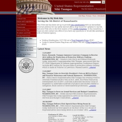 Member of Congress Official Web Site - Niki Tsongas