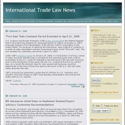 International Trade Law News