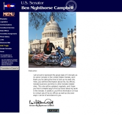 Member of Congress Official Web Site - Ben Nighthorse Campbell