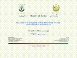 Islamic Republic of Afghanistan Ministry of Justice