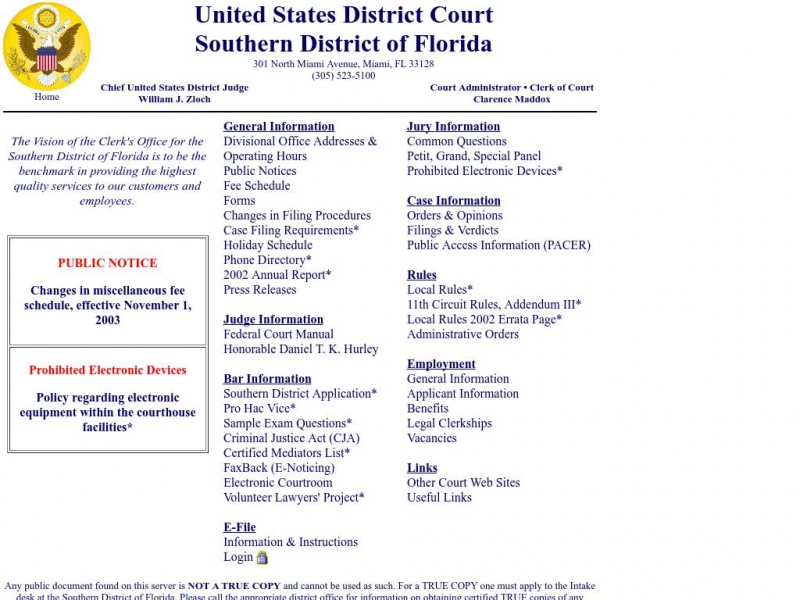 United States District Court: Southern District of Florida