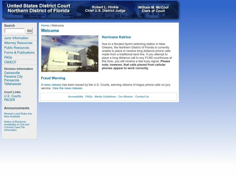 United States District Court: Northern District of Florida